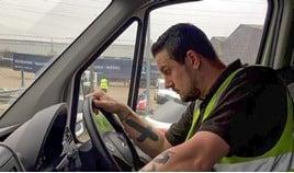 stressed van driver